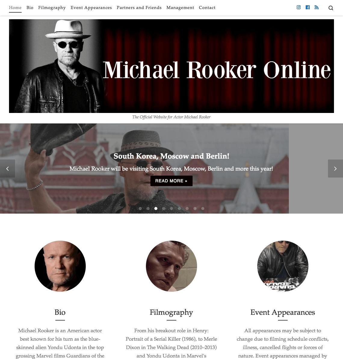 Michael Rooker Online